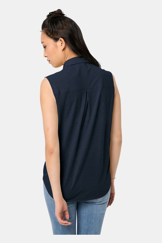 Jack Wolfskin Womens Sonora Sleeveless Shirt Midnight Blue