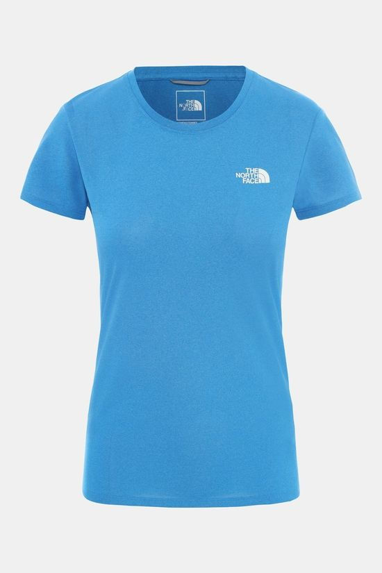 The North Face Women's Reaxion Amp Crew Shirt Clear Lake Blue Heather