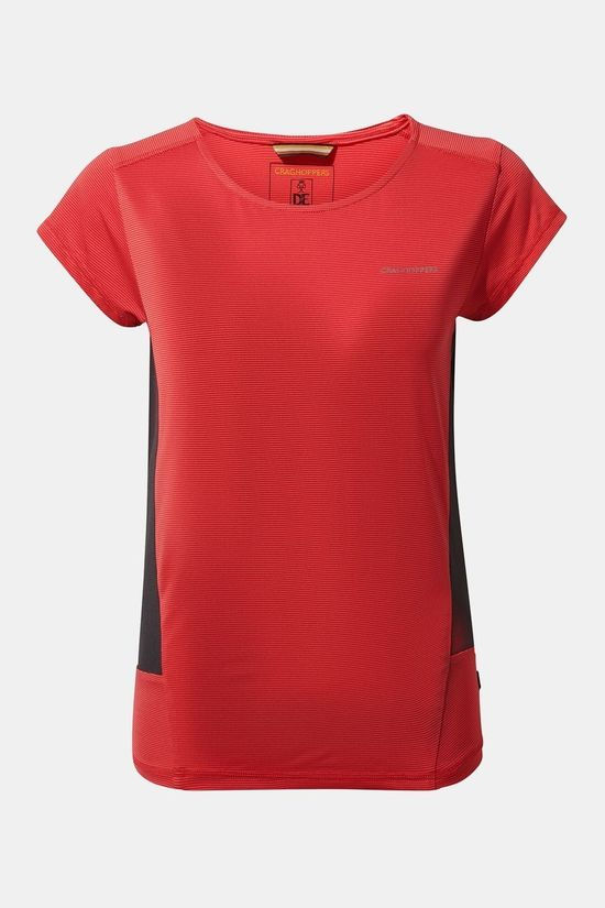 Craghoppers Womens Atmos Short Sleeve T-Shirt Rio Red