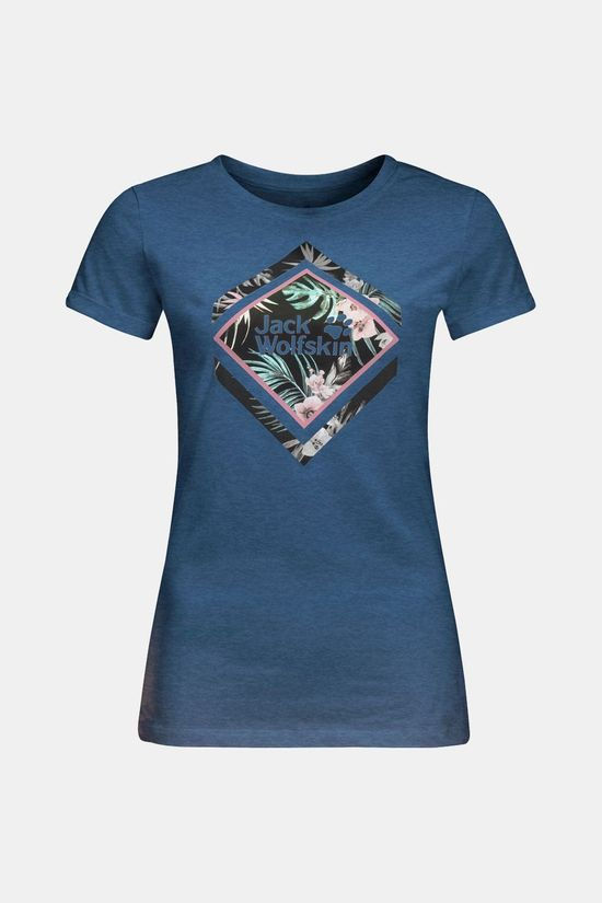 Jack Wolfskin Womens Tropical Square T-shirt Ocean Wave