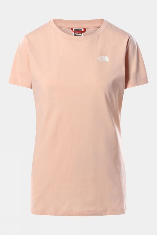 The North Face Womens Simple Dome Short Sleeve Tee EVENING SAND PINK