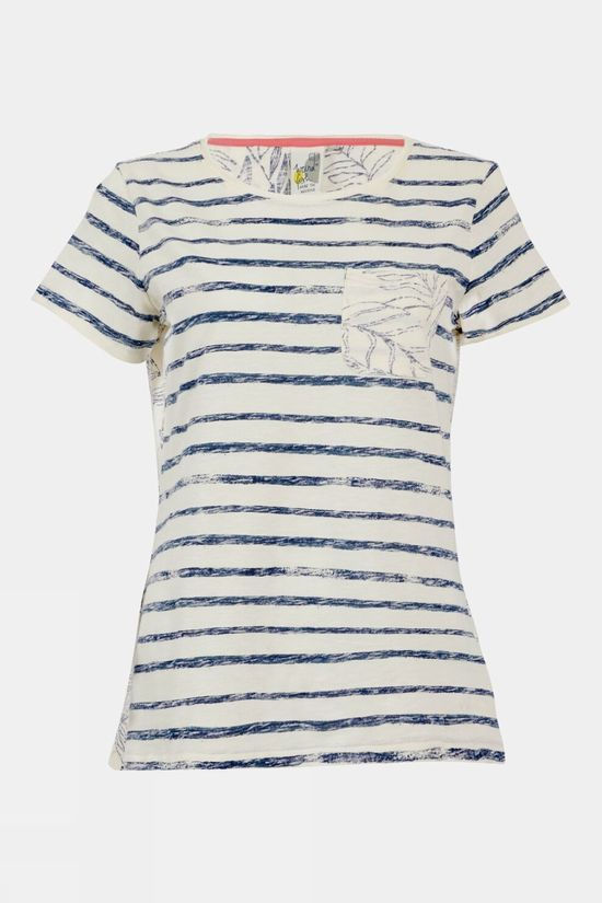 Weird Fish Womens Woodland Organic Tee Light Cream