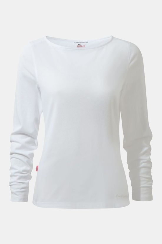 Craghoppers Womens NosiLife Erin Long Sleeved T-shirt Optic White