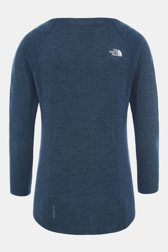 The North Face Womens Hikesteller 3/4 Sleeve Top Blue Wing Teal Heather