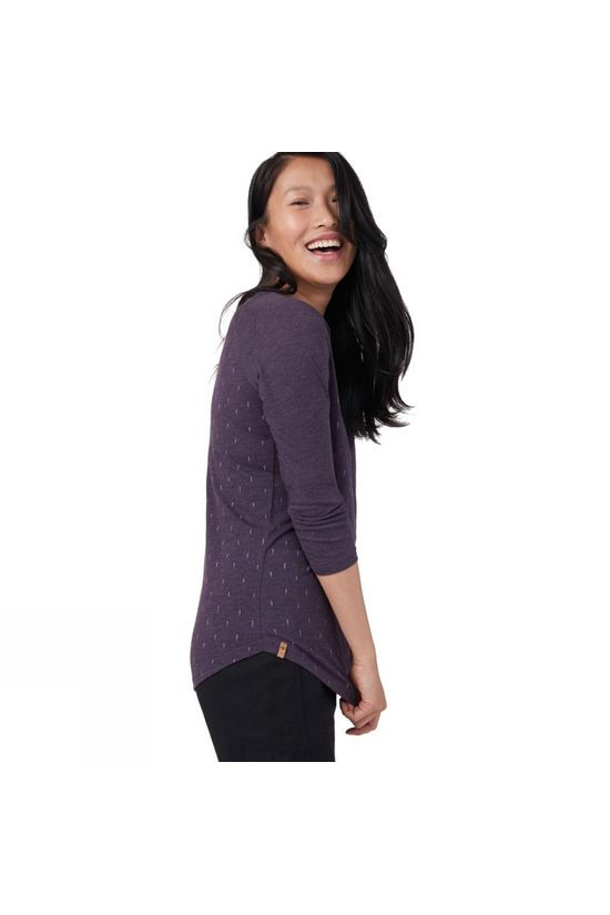 Tentree Womens Small Tree 3.25 Long Sleeve Top Aubergine Purple/Small Tree AOP