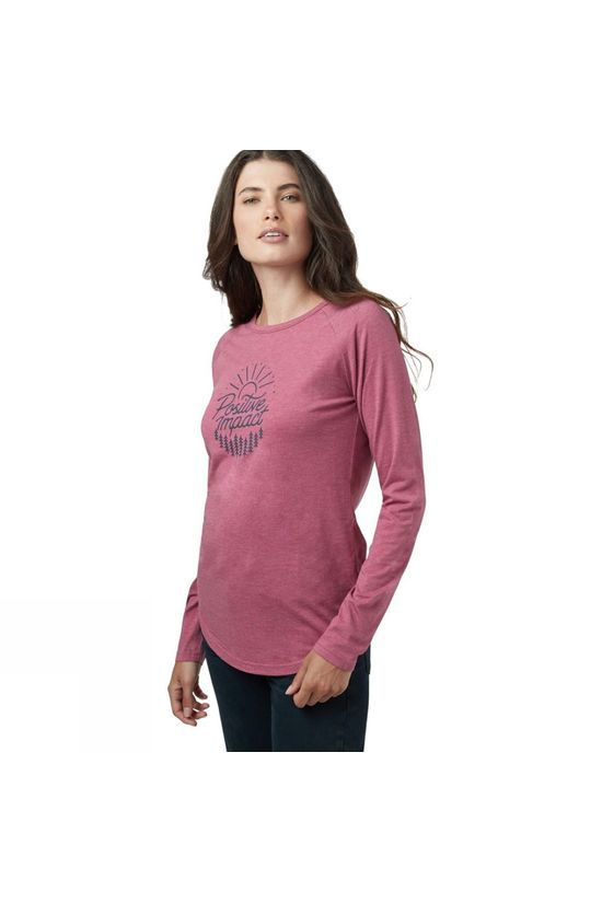 Tentree Womens Positive Impact Long Sleeve Malaga Pink Heather