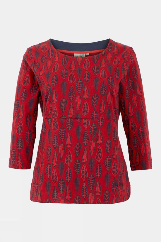 Weird Fish Womens Pinto Printed Jersey Tee Rich Red