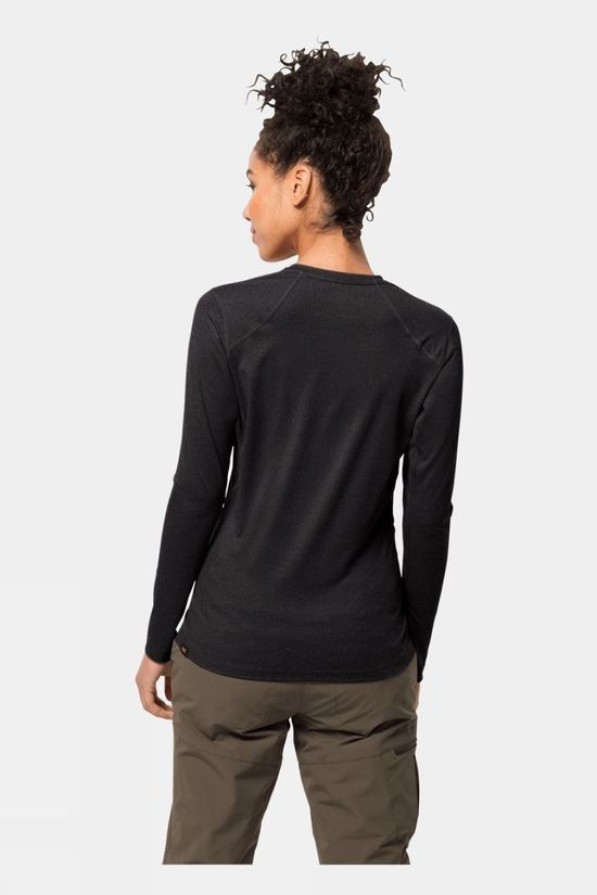 Jack Wolfskin Womens Sky Flex Long Sleeve Black