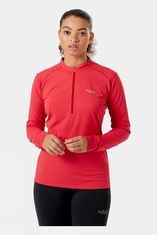 Rab Womens Sonic Long Sleeve Tee Geranium