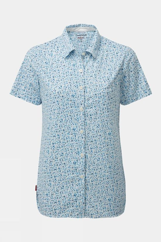 Craghoppers Women's Nosilife Tayma Shirt Blue print