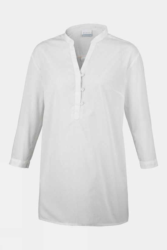 Columbia Womens Early Tide Tunic Sea Salt Dots P
