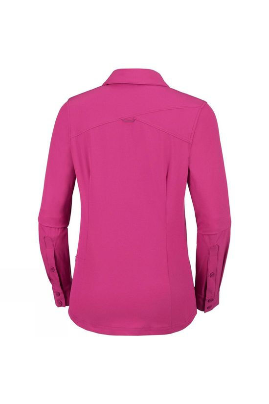 Columbia Womens Saturday Trail Stretch Long Sleeve Shirt Wine Berry
