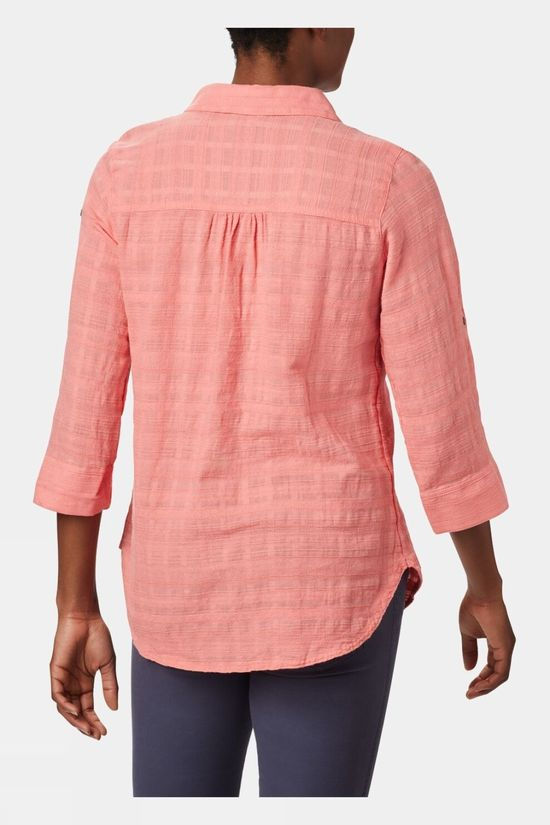 Columbia Womens Summer Ease Popover Tunic Coral Bloom