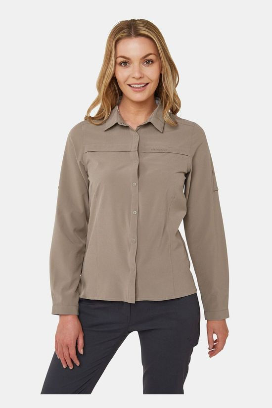 Craghoppers Womens NosiLife Pro Long Sleeve Shirt Mushroom