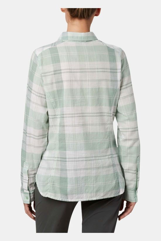 Columbia Womens Camp Henry II Long Sleeve Shirt New Mint Large Plaid