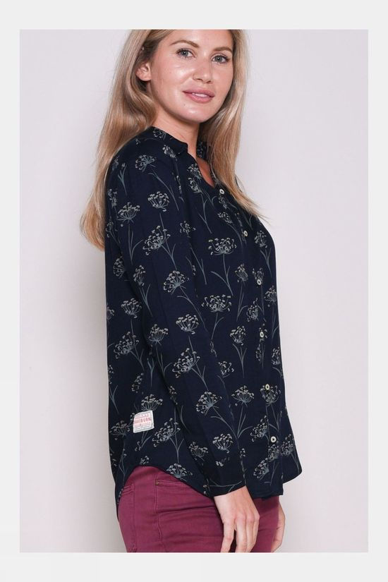 Brakeburn Womens Cow Parsley Blouse Navy