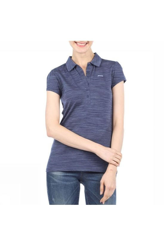 Ayacucho Womens Betty Polo Navy Space Dyed