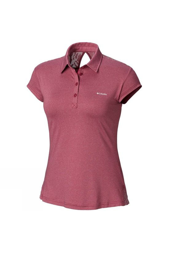 Columbia Womens Peak to Point Polo Wine Berry