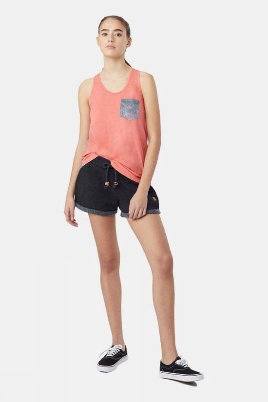 Tentree Womens AOP Pocket Tank Porcelain Rose/Palmy Porcelain Rose