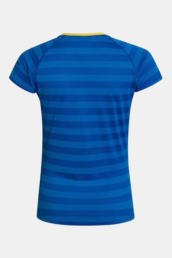 Berghaus Womens Stripe T-shirt Base Layer 2.0  Daphne/Blithe
