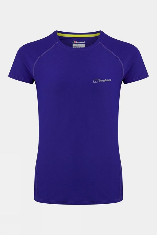 Berghaus Womens 24/7 Tech Base Layer Short Sleeve Crew Neck  Spectrum Blue