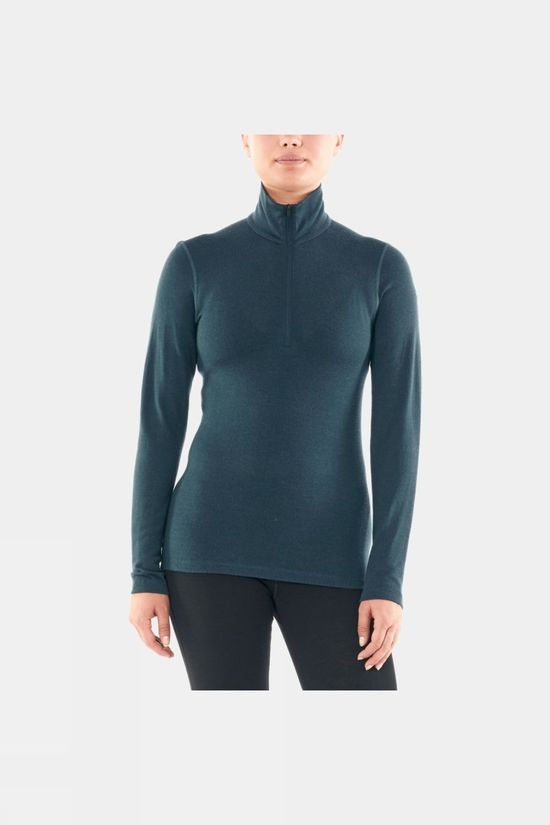 Icebreaker Womens 260 Tech Long Sleeve Half Zip Top Nightfall