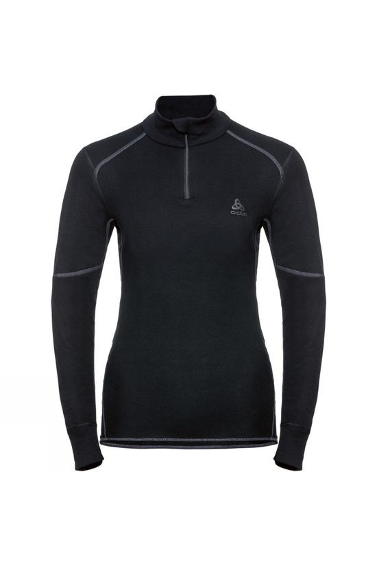 Odlo Womens Active X-Warm Half Zip Turtle-Neck Base Layer Black