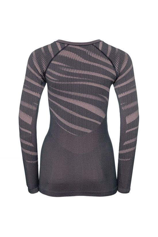 Odlo Womens Blackcomb Long-Sleeve Base Layer Top Odyssey Gray - Mesa Rose