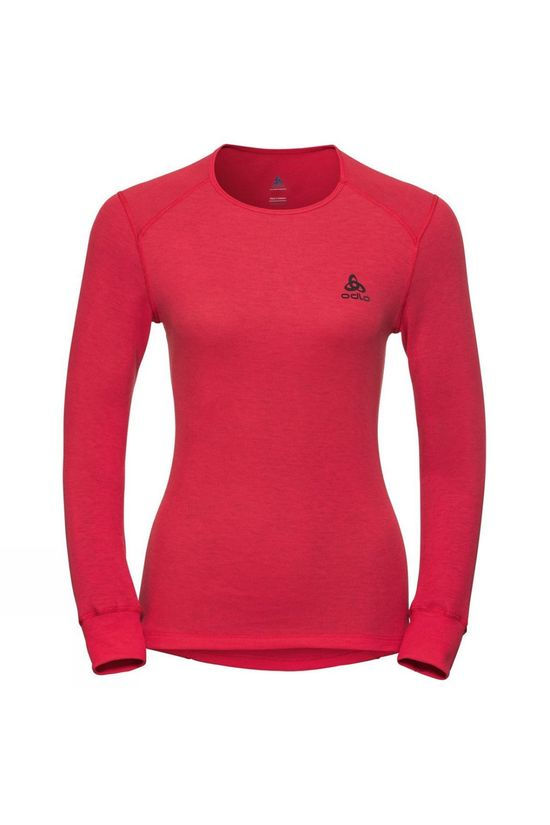 Odlo Womens Active Warm Long-Sleeve Base Layer Hibiscus