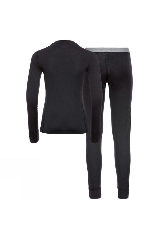 Odlo Womens Natural 100% Merino Warm Set Black - Black