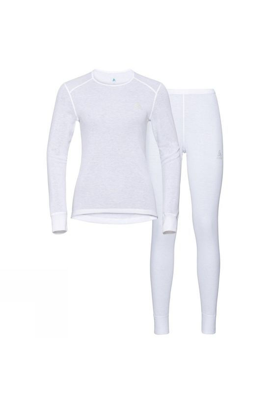 Odlo Womens Active Warm Base Layer Set White