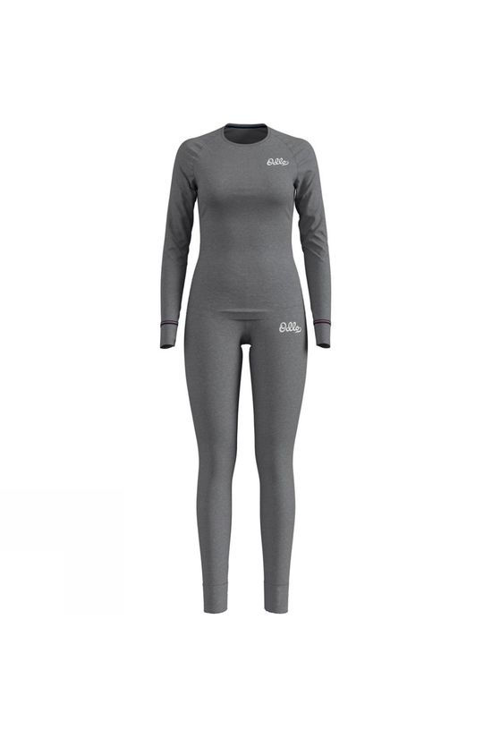 Odlo Womens Heritage Active Warm Base Layer Set Grey Melange