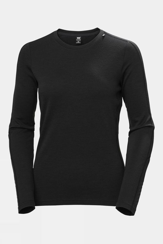 Helly Hansen Womens Merino Lightweight Crew Black