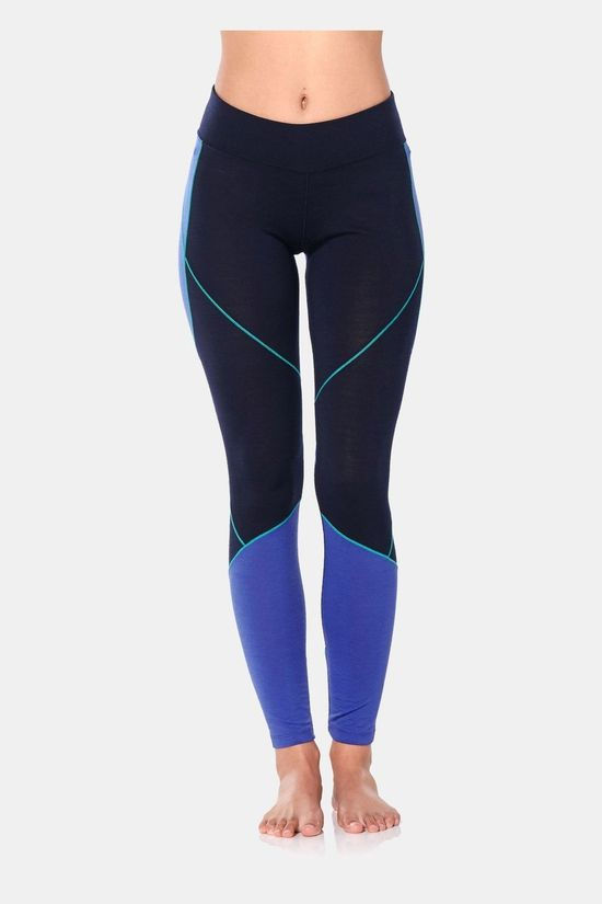 Icebreaker Womens 200 Oasis Deluxe Legging Tights Midnight Navy/Mystic