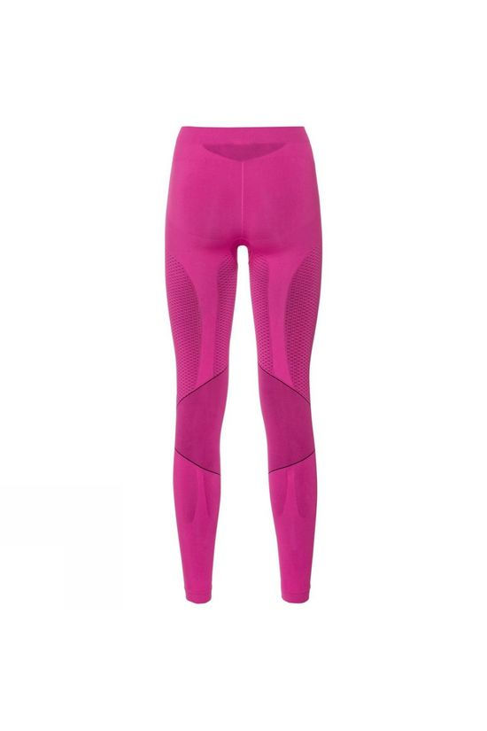 Odlo Womens Muscle Force Evolution Warm Compression Tights Pink Glo - Peacoat
