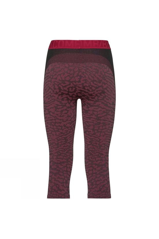 Odlo Womens Blackcomb 3/4 Base Layer Pants Black - Cerise - Cerise
