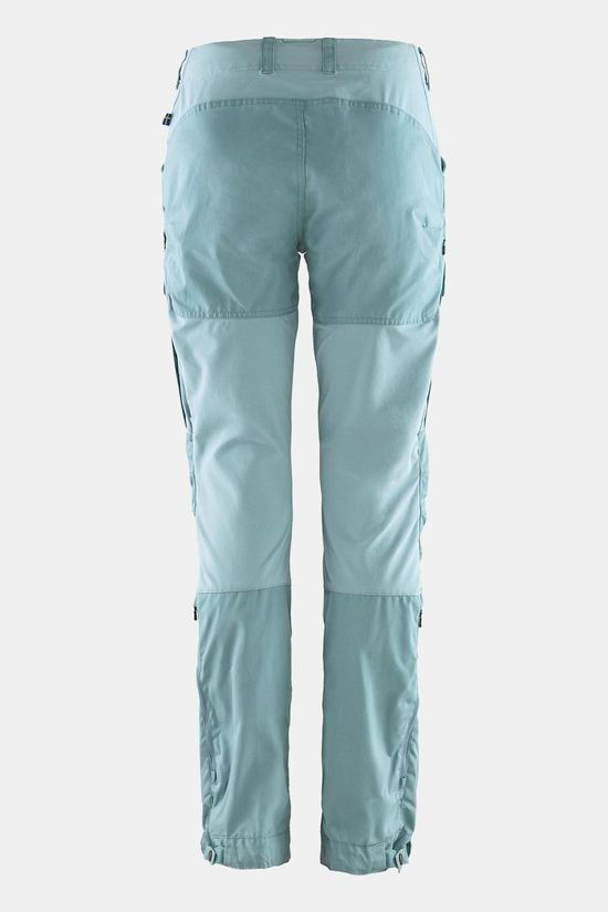 Fjallraven Womens Keb Trousers Curved Clay Blue-Mineral Blue