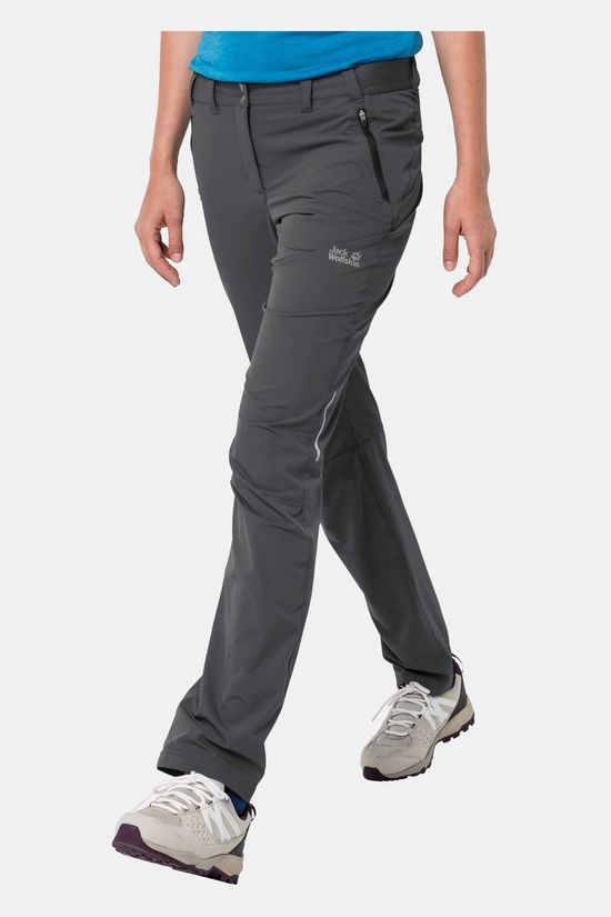 Jack Wolfskin Womens Delta Pants Dark Iron