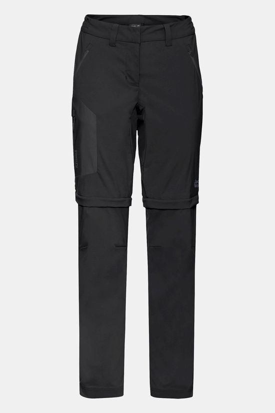 Jack Wolfskin Womens Overland Zip Away Pants Black