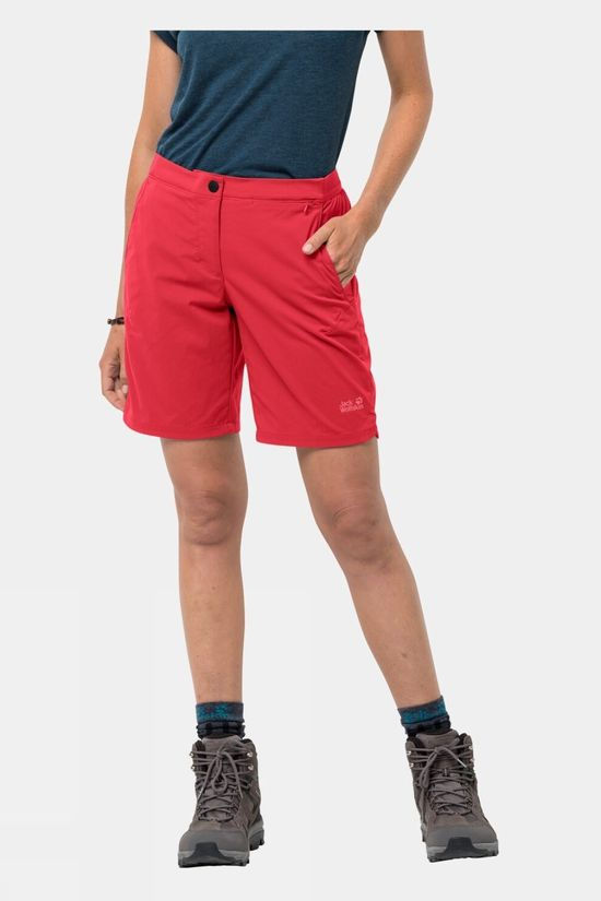 Jack Wolfskin Womens Hilltop Trail Shorts Tulip Red