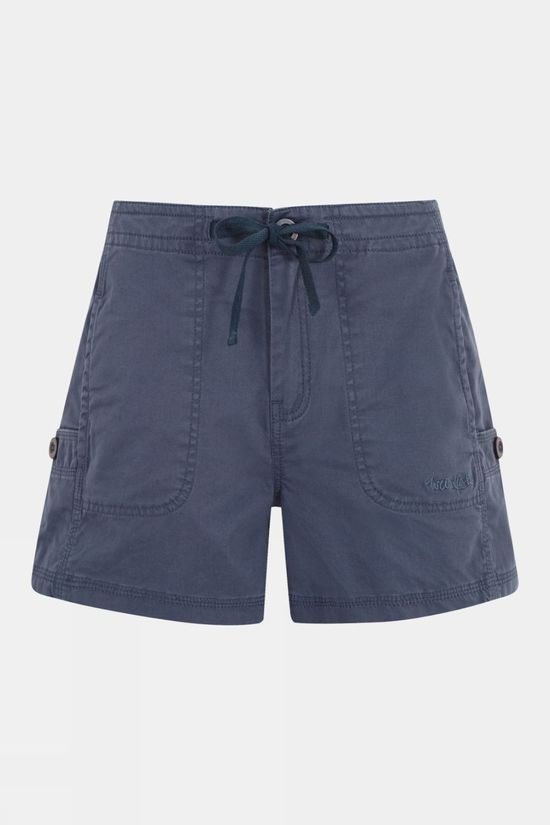 Weird Fish Womens Willoughby Organic Shorts Navy