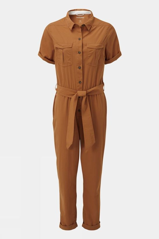 Craghoppers Womens NosiLife Rania Jumpsuit Toasted Peacan