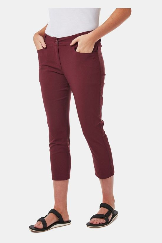 Craghoppers Womens Nosilife Clara Crop Trouser Wildberry
