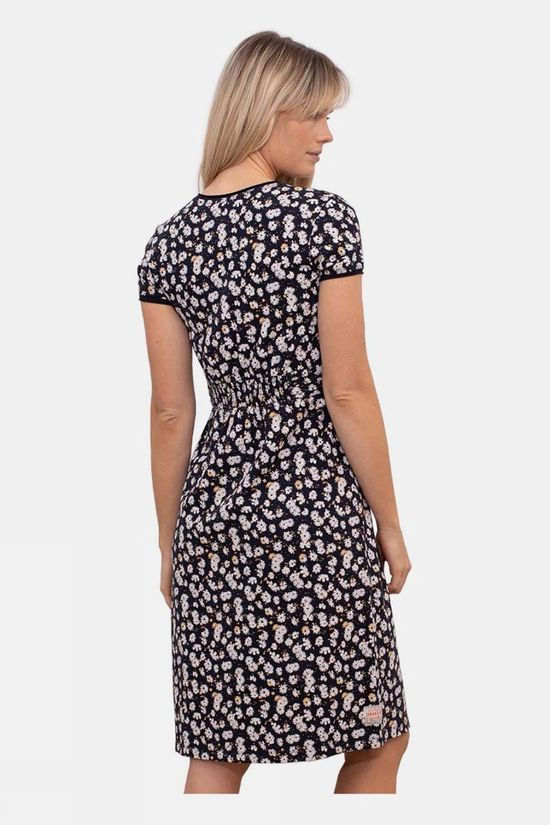 Brakeburn Women's Aster Daisy Wrap Dress Navy