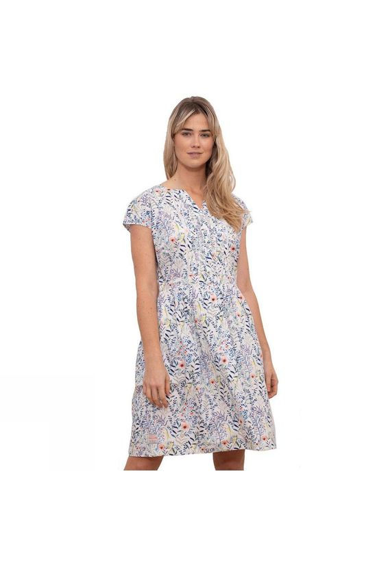 Brakeburn Womens Botanical Summer Dress White Floral Print