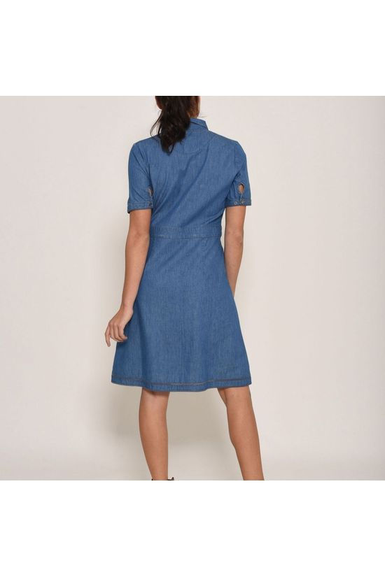 Brakeburn Womens Denim Dress  Blue