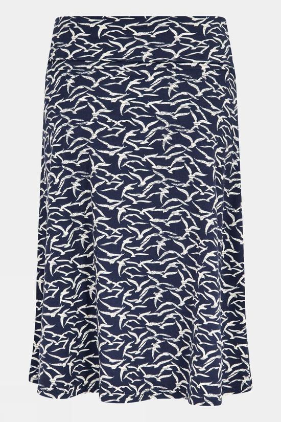 Weird Fish Womens Malmo Skirt Dark Navy
