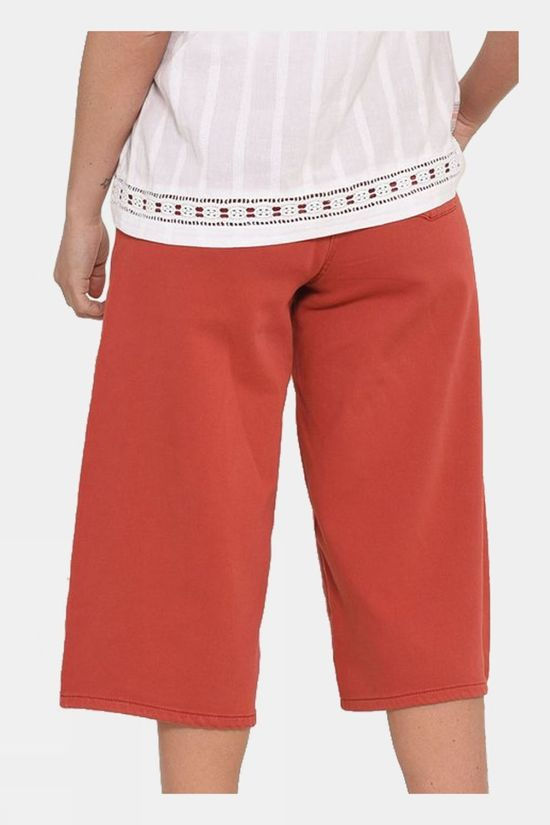 Brakeburn Womens Stretch Culottes Red