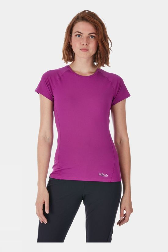 Rab Womens Force Short Sleeve T-Shirt Peony