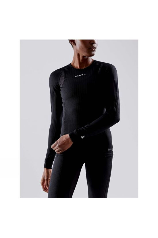 Craft Womens Active Extreme X Round Neck Long Sleeve Baselayer Black